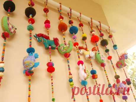 Door decor in of 100% of Handmade Cute Doll Beads of IndycraftsDesigns