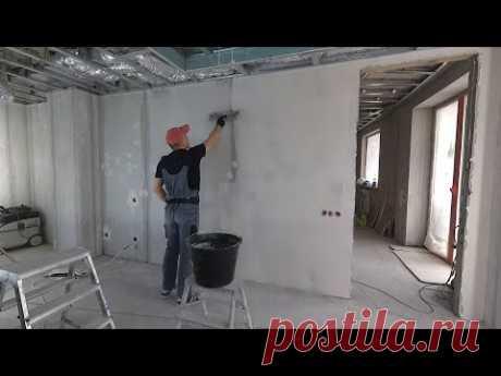 Как сделать шпаклевку стен под обои от А до Я? Классический способ. Возможные ошибки