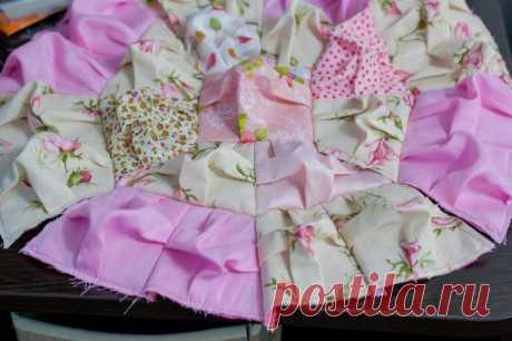 Шьем круглые подушки в технике bubble quilt