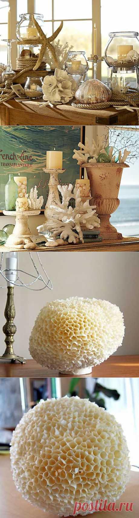 Морская губка и кораллы своими руками для украшения интерьера в морском стиле.