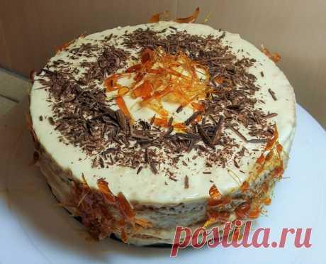 Бисквитный торт с карамельным кремом - Простые рецепты Овкусе.ру