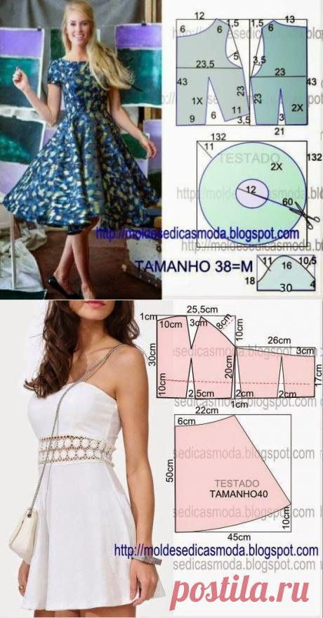 Выкройки одежды | Записи в рубрике Выкройки одежды | О мире моды и шитья!