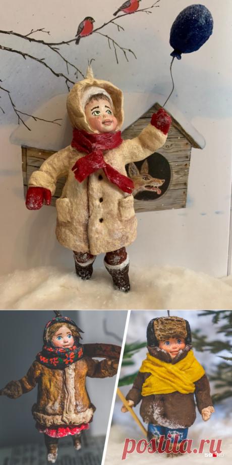 Пермячка Анна Онищенко делает советские ватные елочные игрушки сентябрь 2020 г | 59.ru - новости Перми