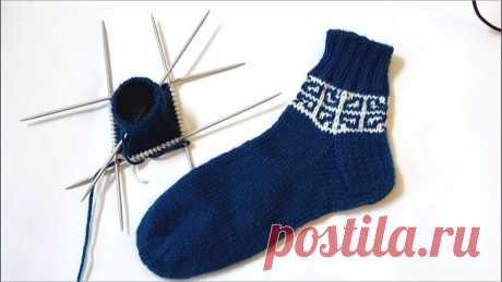 Я вяжу узор на носках ленивым жаккардом | CatDogSweatr | Яндекс Дзен