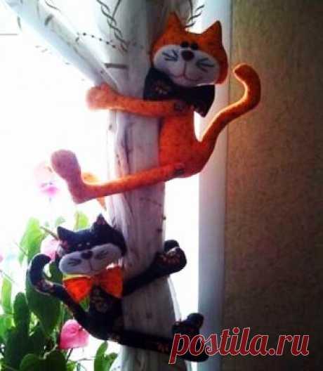 Прихваты-коты для штор: выкройка | Ladynweb.ru