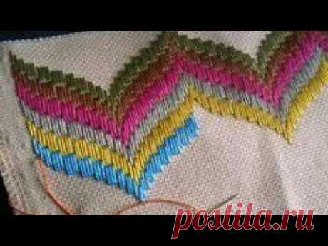 Hilván, BARGUELLO,bordado florentino para principiantes!!