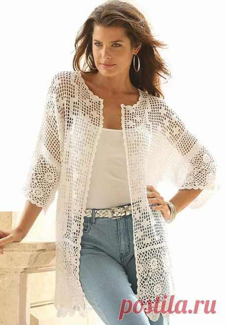 «Plus Size Scalloped Border Crochet Cardigan orgu Tığ işleri, Hırkalar ve Tığ işi modelleri» — карточка пользователя olgа.litka в Яндекс.Коллекциях