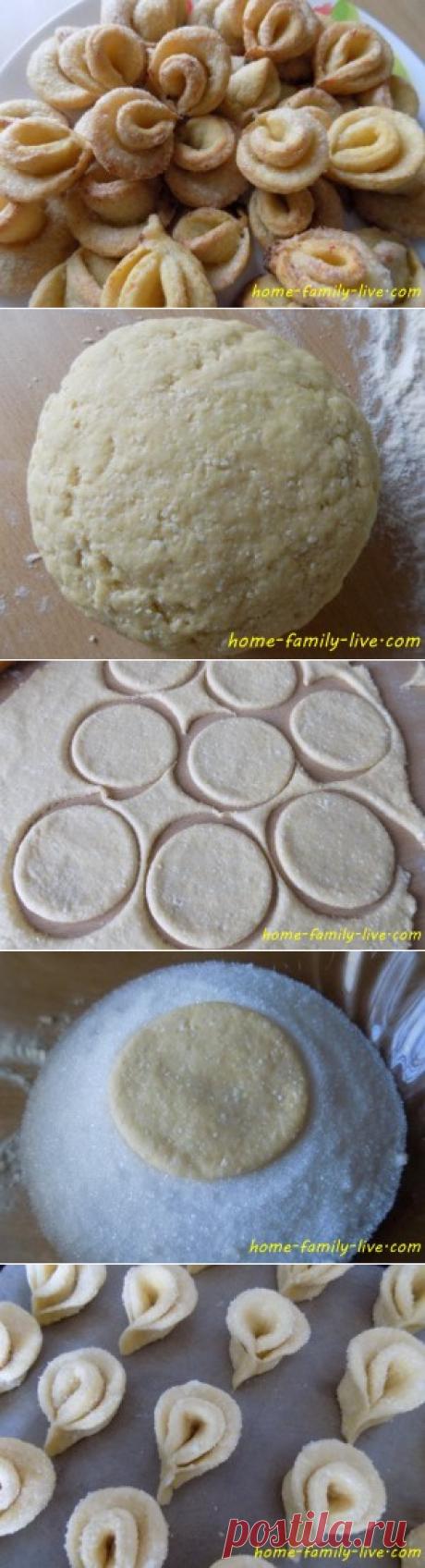 Печенье творожное - пошаговый рецепт с фотоКулинарные рецепты