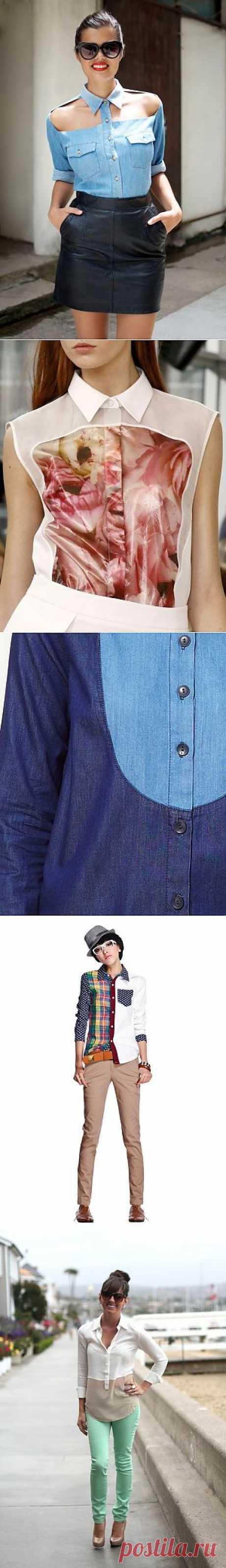 45 неожиданных идей для твоей рубашки — Look At Me — Посты — поток «DIY»