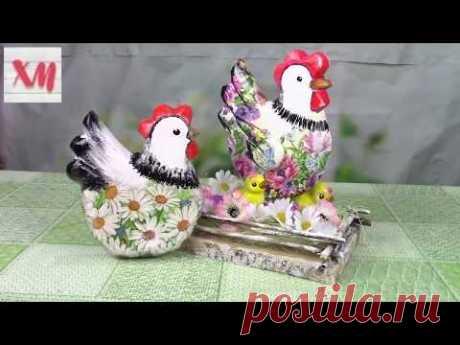 Курочка с цыплятами своими руками/ DIY chicken with chickens. ХоббиМаркет