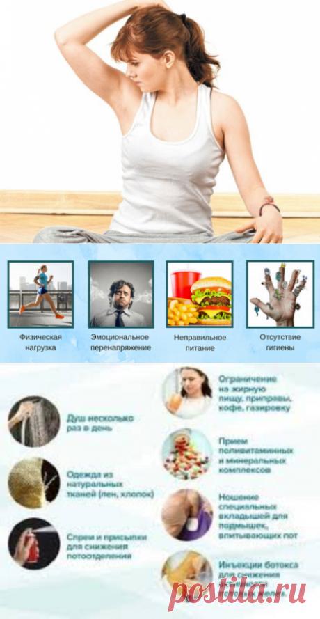 Усиленное потоотделение под мышками: причины и способы избавления   Кладовая здоровья   Яндекс Дзен
