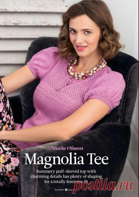 Вязание топа Magnolia, The Knitter 58