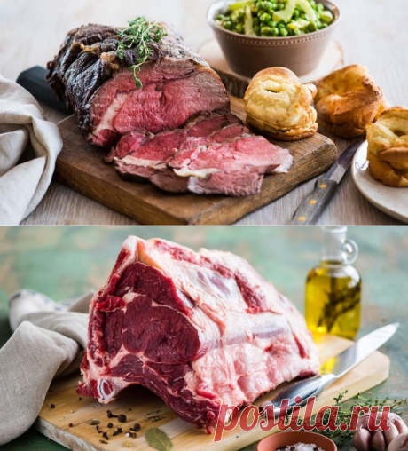 The roast beef made in the low-temperature way — Tasty recipes