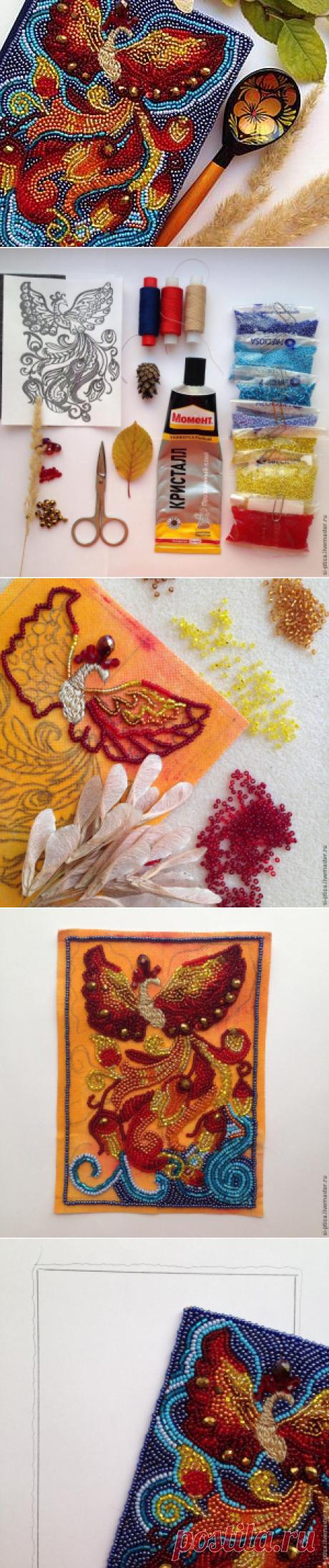 Превращаем обычный ежедневник в сказочный: украшаем блокнот вышивкой Жар-Птицы - Ярмарка Мастеров - ручная работа, handmade