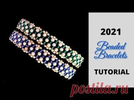 2021 beaded bracelets desgn. beading tutorial
