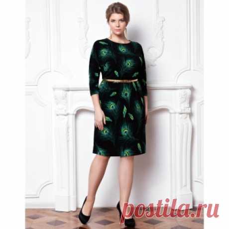 Платье женское, цвет зеленый