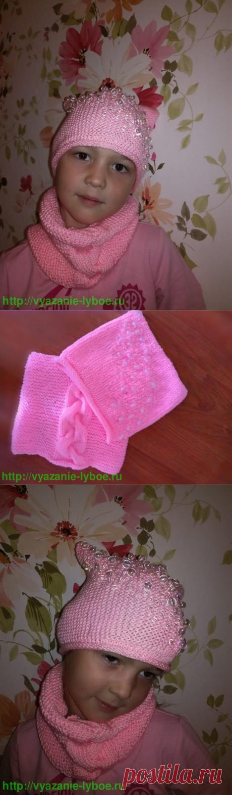 Комплект: шапочка и снуд. | Шапки, береты, повязки на голову