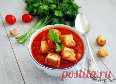 Густой томатный суп с фасолью