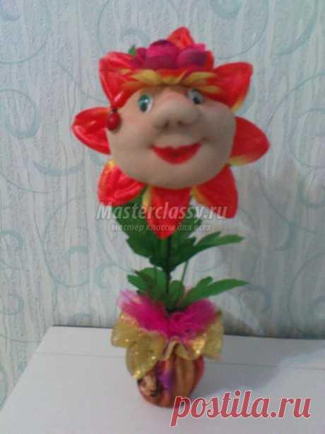 Куклы из капрона. Улыбчивый цветок. Мастер-класс с пошаговыми фото