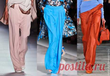 Шъём трендовые брюки палаццо из принтовой ткани Не успела закончиться неделя моды в Милане, как мы, в предвкушении наступающей весны, вдохновлённые и ослеплённые увиденным, уже начинаем подумывать о весенне-летнем гардеробе.   Парадокс заключается …
