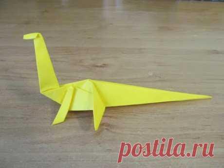 Как сделать ДИНОЗАВРА из Бумаги Бумажный Динозавр ОРИГАМИ Поделка How Make Paper Dinosaur Origami