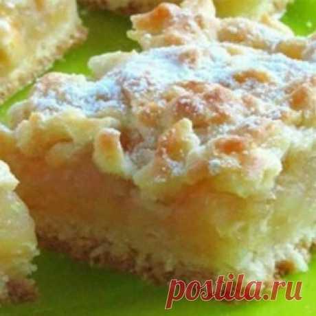 Домашний пирог с сочной и нежной лимонно-яблочной начинкой!