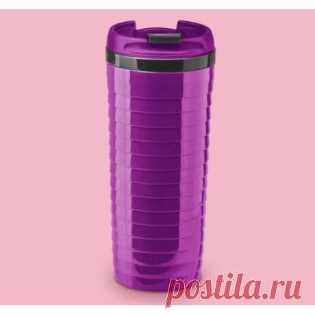 Купить Термостакан ребристый фиолетовый