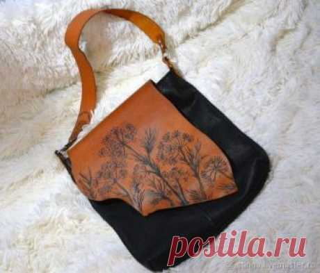 a2211d228611 Сумка -торба с растительным декором – купить в интернет-магазине на Ярмарке  Мастеров с