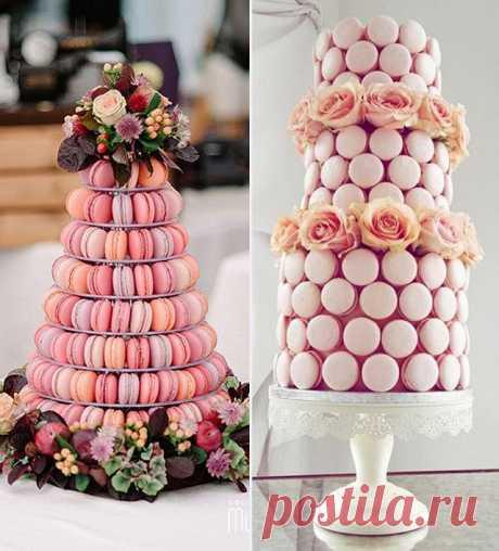 Свадебный торт из какарон, фото