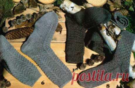 Вязание. Вязание спицами носков.