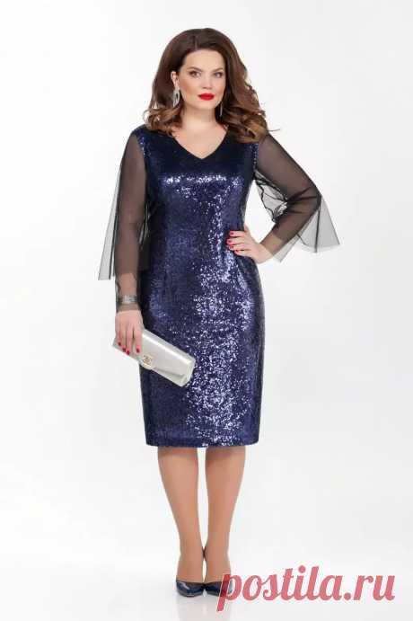 Платье, TEZA, 274 синий Купить с доставкой Дама бай