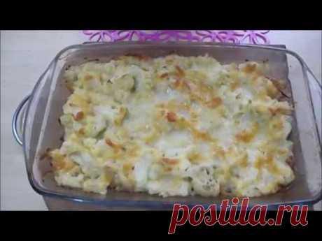 Cauliflower in an oven