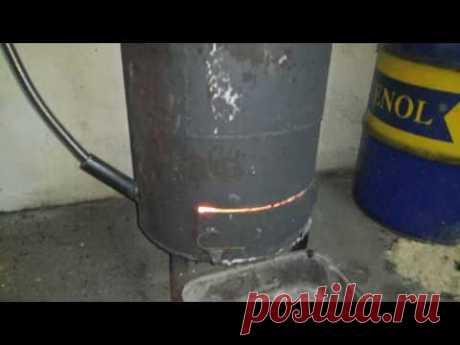 Гараж печка буржуйка на отработке на всех видах топлива универсальная на отработанном масле