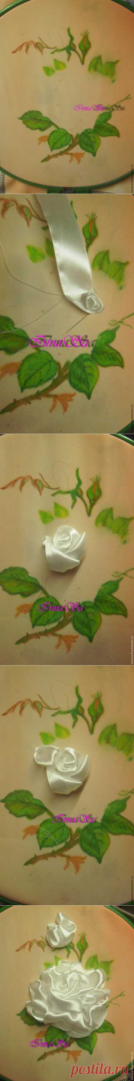 We embroider a rose with tapes - the Fair of Masters - handwork, handmade