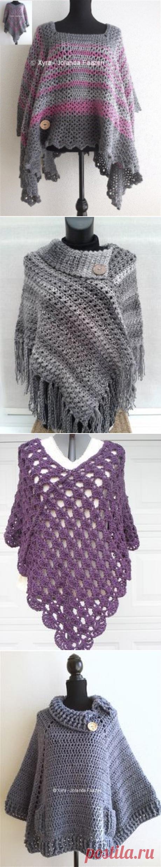 PATR1029 - Poncho - Trapezium / vierkant | Crochet Poncho | Пончо