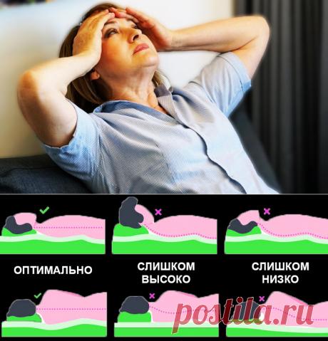 Невролог раскрывает причину головных болей: правильное положение шеи и головы во время сна   PRO-ЗОЖ   Яндекс Дзен