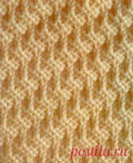 Красивые узоры вязания спицами. Схемы