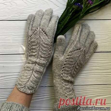 Вяжем перчатки спицами. Видео-МК