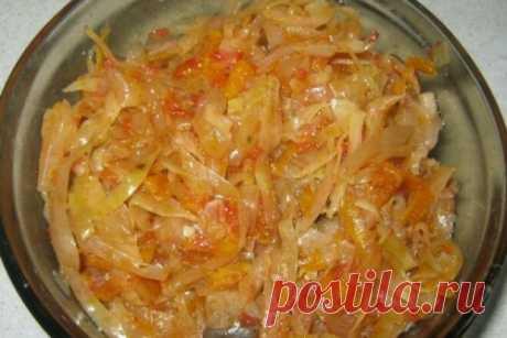 Начинка для пирожков из капусты, моркови и грибов, рецепт с фото