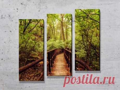 Модульные картины с лесом. #картина #модульнаякартина #декор #интерьер #дизайнинтерьера #уют #атмосфера