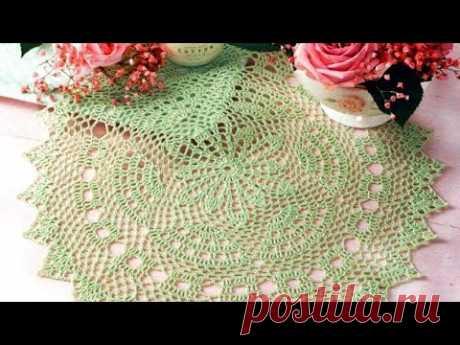 Ажурные салфетки со схемами вязания - Openwork napkins with knitting patterns
