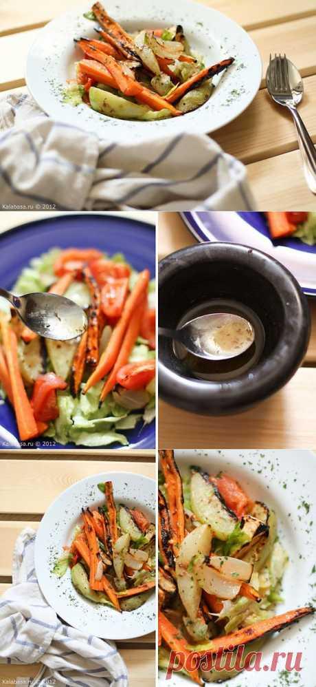 Корнеплоды-гриль и заправка с тмином и подсолнечным маслом
