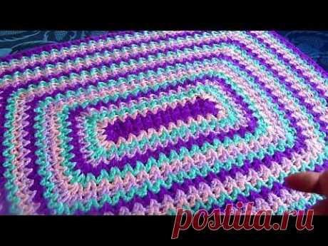 Коврик прямоугольный.Куда применить остатки пряжи.Вязание крючком.Crochet And Knitting