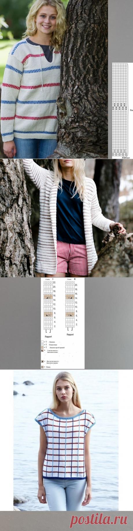 Варианты вязания цветных полос с описанием топа, кардигана, джемпера | Хобби и развлечения | Яндекс Дзен