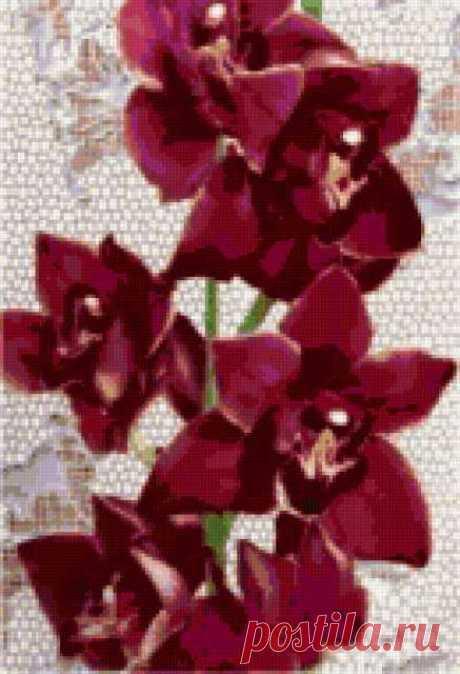 """Предпросмотр - Схема вышивки «Подушка """"Орхидея""""» - Автор «Lynna-yna» - Авторы - Вышивка крестом"""