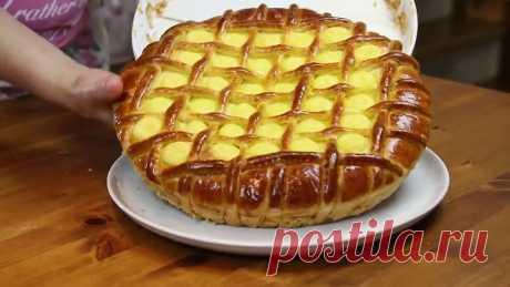 Воздушный Пуховый Пирог Торт с Нежнейшим Кремом