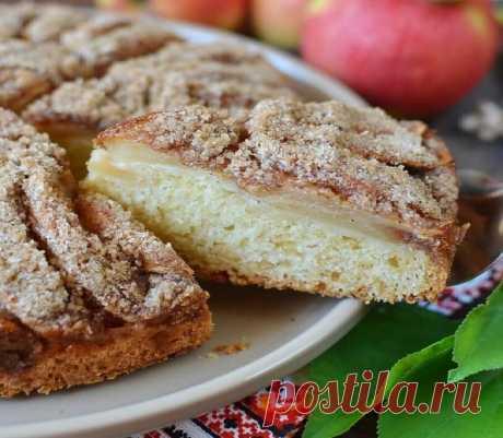 Яблочник (украинский яблочный пирог) | Мама Люба | Яндекс Дзен