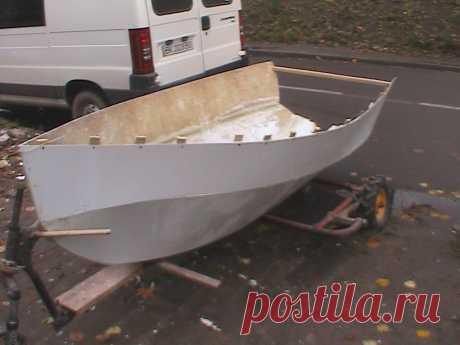 Строю новую парусную лодку