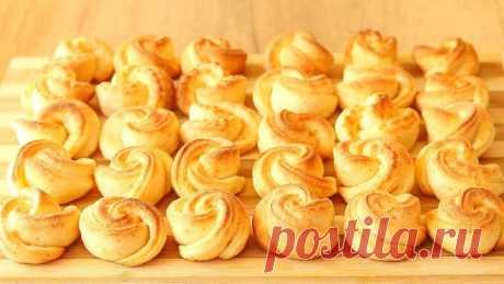 Лёгкий Рецепт ТВОРОЖНОГО Печенья🌼! Печенье из ТВОРОГА Цветочки – вкусное и нежное!