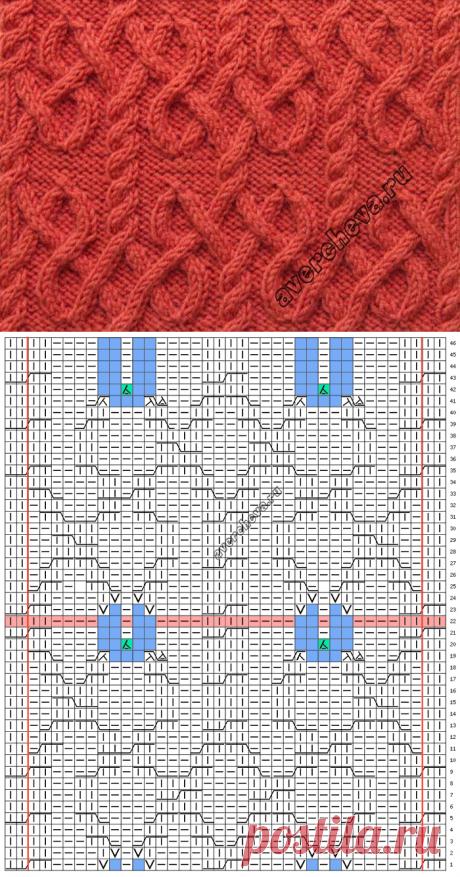 Узор 733 « Аранский мотив» | каталог вязаных спицами узоров